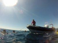 Buceo desde barco en Tabarca