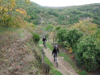 MTB bike in Sierra de Francia. Holy Week