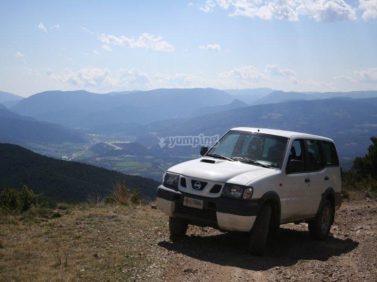 Vehiculo en ruta hacia Andorra