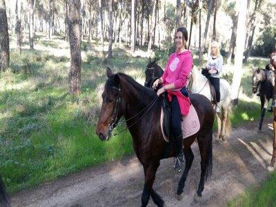 3 horas de ruta a caballo por Parque de Doñana