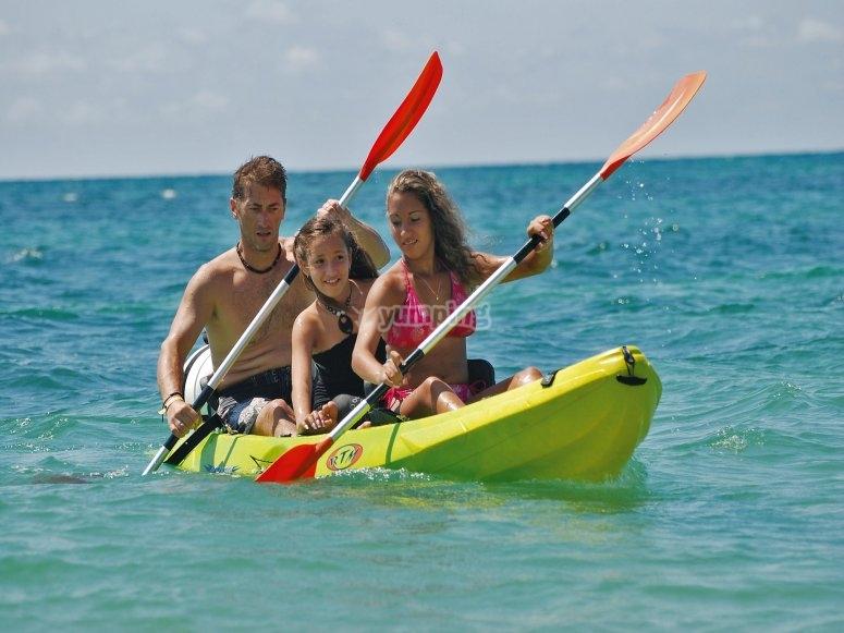 Ruta guiada en kayak