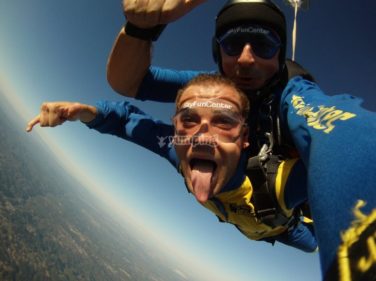 Parachuting in Braga