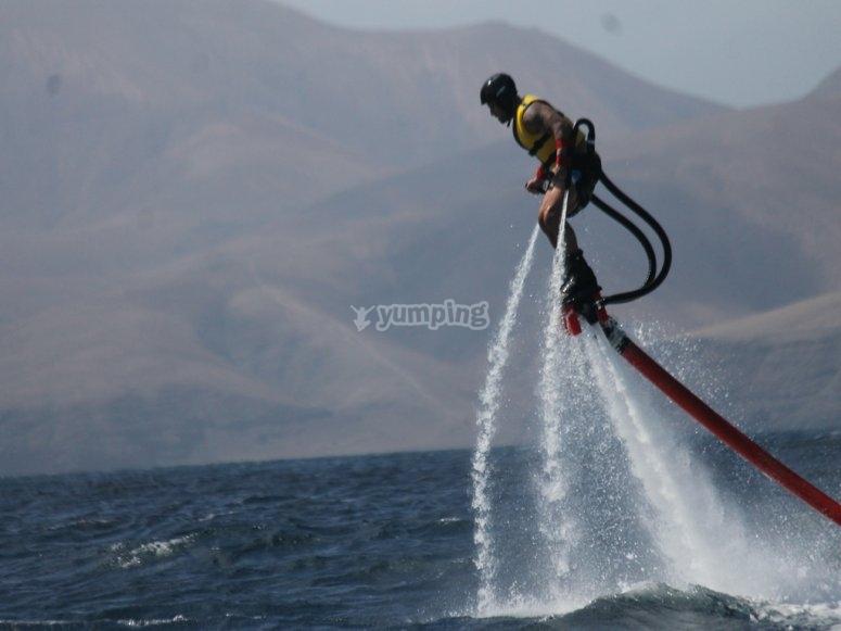 Diversion con el flyboard