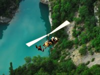 Overflying the river