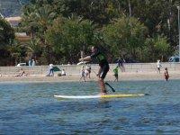 Stand up paddle frente a la playa