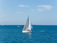 Sailboat in the Mediterranean