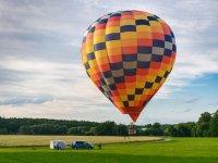 A balloon ready to take-off