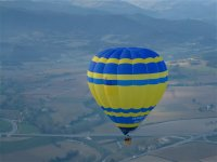 Yellow and blue balloon