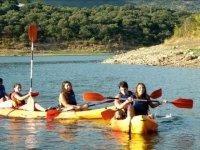 Kayak en el ambalse