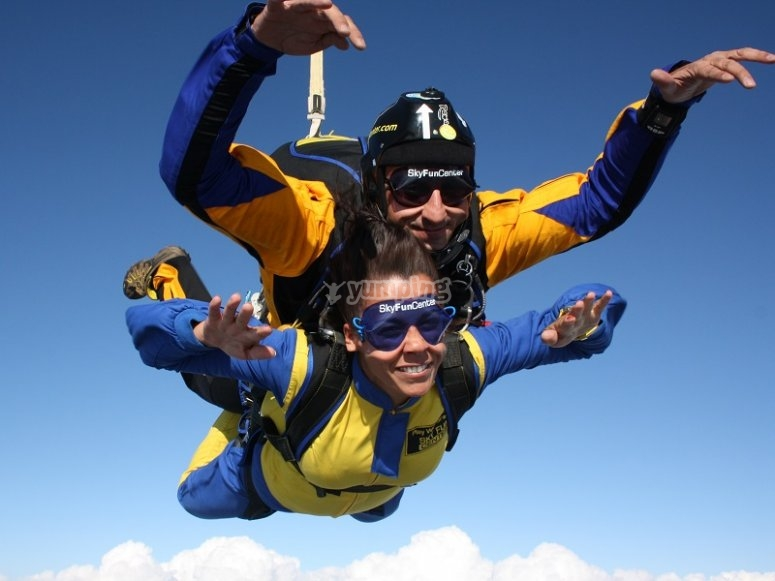Jump with instructor