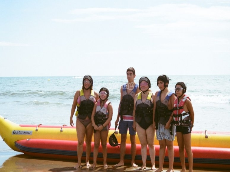 Banana boat session