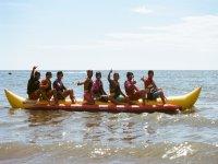 香蕉船在Islantilla海滩15分钟
