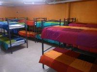 Habitaciones compartidas en albergue