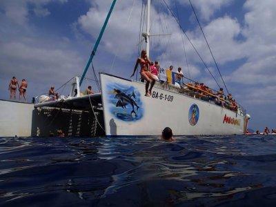 乘坐双体船航行,Portd'Alcúdia,儿童