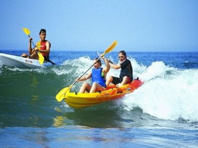 Alquiler kayak biplaza 1 hora, playa de Islantilla