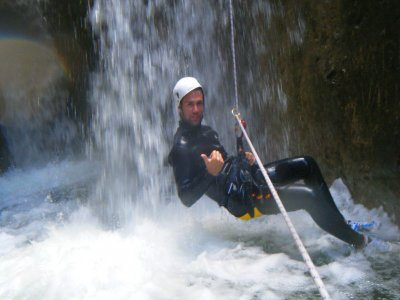 Infierno ravine advanced level canyoning