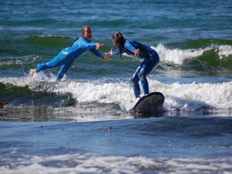 Practising surf