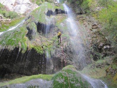 Canyoning Forat Negre in Bergra, initiation level