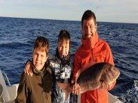 Salida de pesca familiar en Mallorca