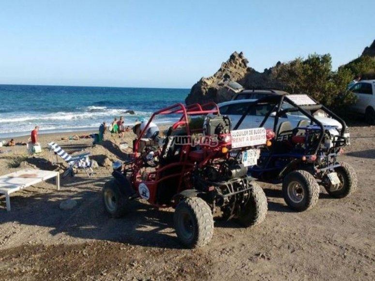 Buggies en playa Garrucha