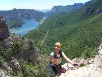 铁索攀岩巴塞罗那爬升,爬出