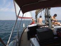 日光浴的帆船