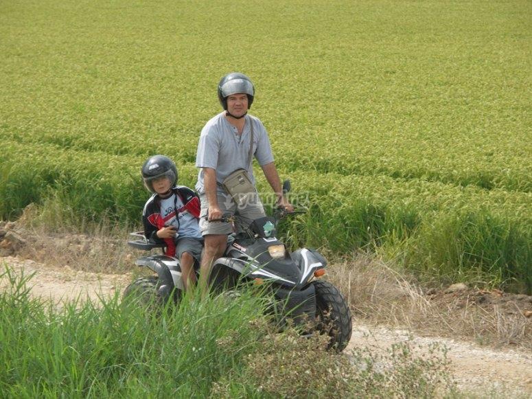 四轮摩托车路径