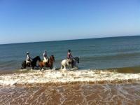 A caballo en el agua