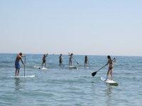 Paddle surfing the Costa Dorada