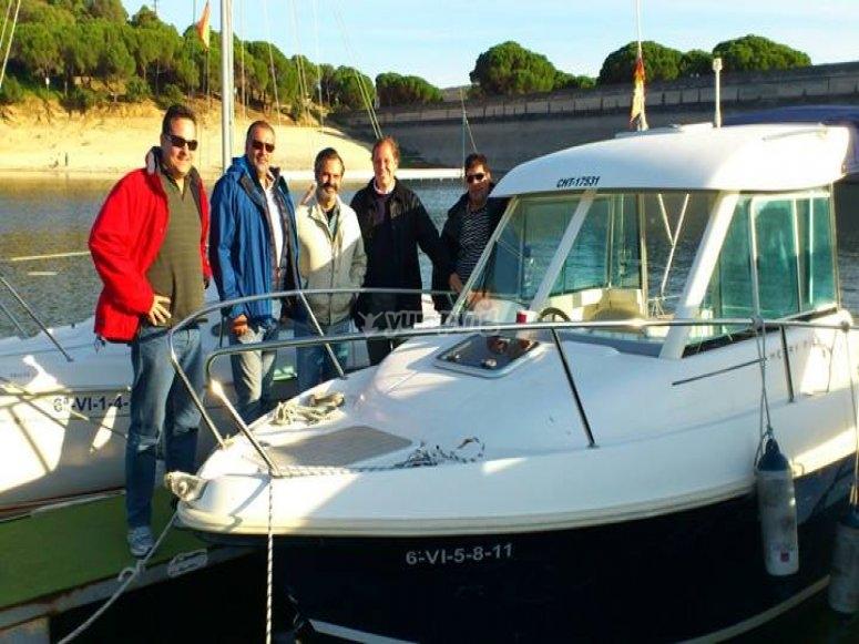 Boat tour in San Juan Reservoir