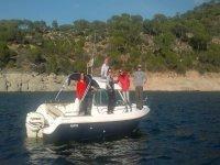 navegando con el barco