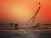 Climb to the heights by flyboard