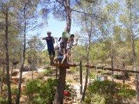 Avventura sugli alberi a Valencia