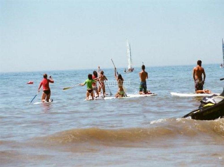 Practica de paddle surf