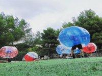 Gioco di calcio in bolle