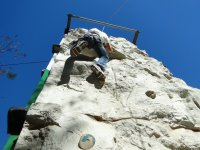 arrampicata su un muro