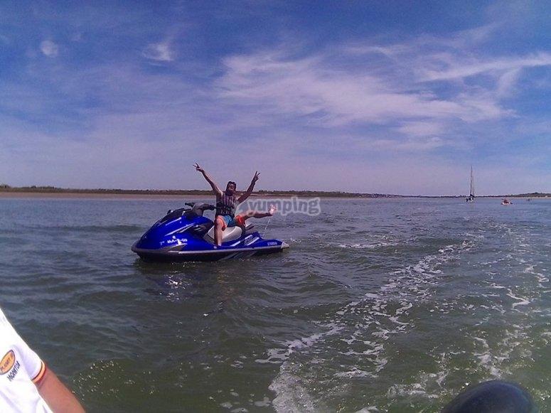 Navegando en la moto