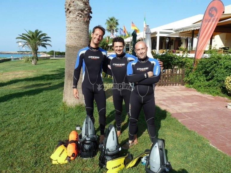 Listos para el snorkeling