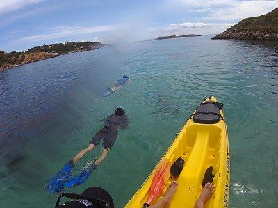 Kayak y snorkel en Illetas, 3 horas