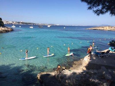 桨板,Illetas水晶般清澈的海水,2小时