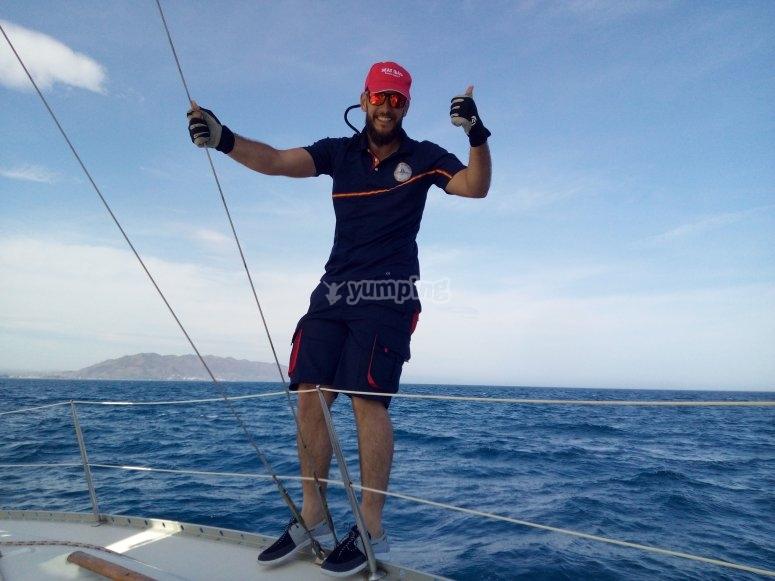 Patrón de barco experto en Costa Garrucha