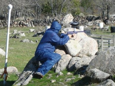 Paintball 200 palline con cibo in Becerril, adulto