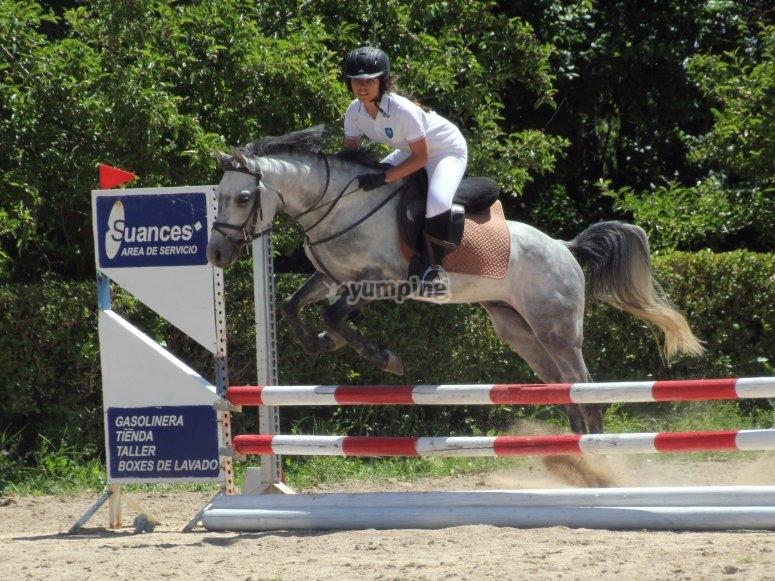 Horse riding practice