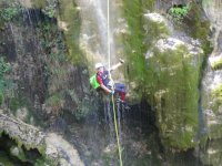 Abseiling the canyon