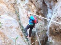 SierraEstepadán的2级干燥峡谷漂流