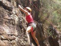 巨石,在SierraEspadán攀登