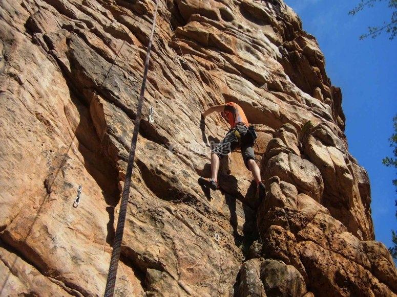 Escalando en la sierra