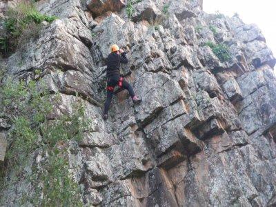 Sesión de escalada avanzada, Sierra de Espadán