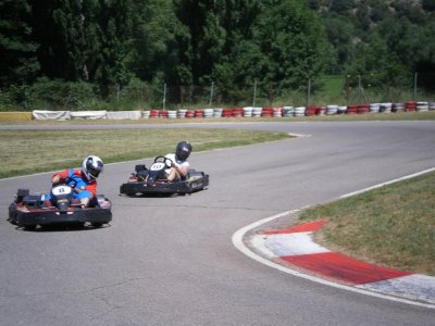 Tanda de karting junior en El Pla, 10 minutos