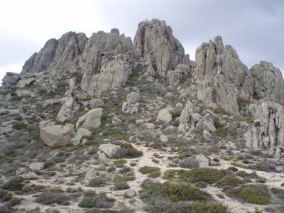 Hiking route in La Pedriza, Half a day.